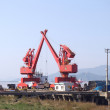 Stock Photo: Quay cranes