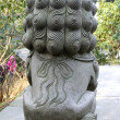 Stock Photo: Beijing Forbidden City stone lions