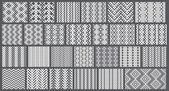 Set of 26 monochrome elegant seamless patterns — Stock Vector