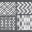 Set of 4 monochrome elegant seamless patterns — Stock Vector #10630904