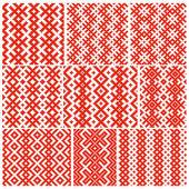 белорусский традиционный орнамент девять — Cтоковый вектор