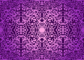 Violet vintage seamless pattern — Stock Vector