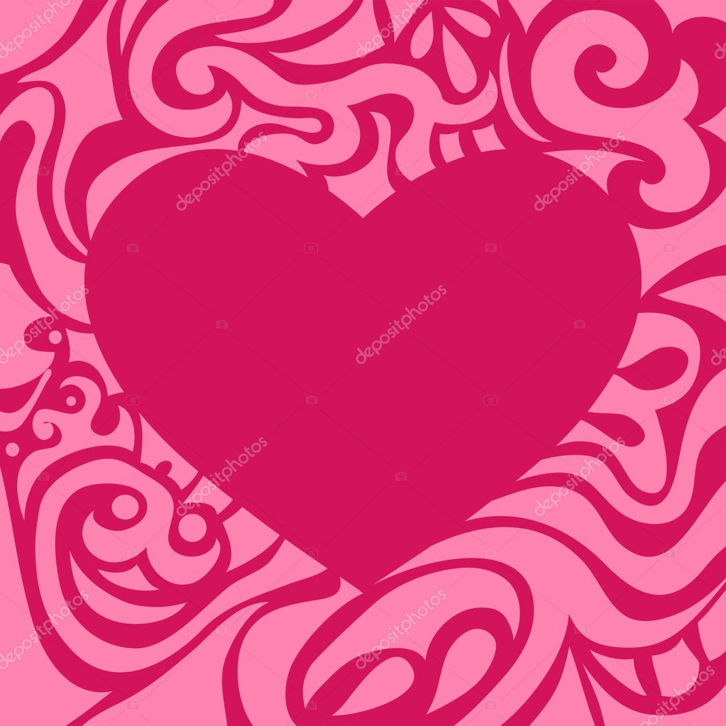 Valentine pink retro frame may be used as decorative element — Stock Vector #8586635