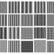 Set of 20 monochrome elegant seamless patterns — Stockvektor