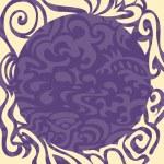 Violet elegant round frame — Stock Vector #8936172