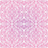 Pink curly seamless pattern — Stock Vector