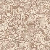 Hand-drawn seamless pattern — Stock Vector