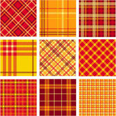 Bright plaid patterns — Stock Vector