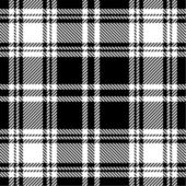 Black and white plaid pattern — Stock Vector