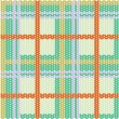 Plaid pattern from knitted texture — Stock Vector