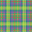 Royalty-Free Stock Vector Image: Plaid pattern from knitted texture
