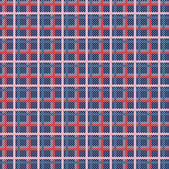Seamless plaid pattern from knitted texture — Stock Vector
