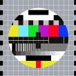Test pattern RGB. Test Card. Technical break on television - Stok Vektör
