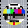 Test pattern RGB. Test Card. Technical break on television — Stock Vector #10050855