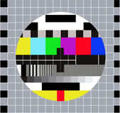 Test pattern RGB. Test Card. Technical break on television — Stock Vector