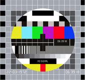 Testmönster för rgb. testa kortet. tekniskt avbrott på tv — Stockvektor
