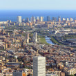 Stock Photo: Spectacular panoramic view of the city of Barcelona