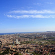 Spectacular panoramic view of the city of Barcelona — Stock Photo #10197736