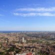 Spectacular panoramic view of the city of Barcelona — Stock Photo #10197744
