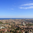 Spectacular panoramic view of the city of Barcelona - Stock Photo