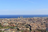 Spectacular panoramic view of the city of Barcelona — Stok fotoğraf