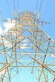 High voltage electrical tower — Stock Photo