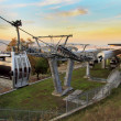 Stock Photo: Cableway of Montjuic