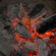 Coals and charcoal fire — Stock Photo