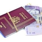 Spanish passport and money — Stock Photo #8411991