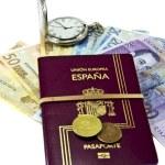 Spanish passport and money — Stock Photo #8412034