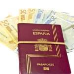 Spanish passport and money — Stock Photo #8412089