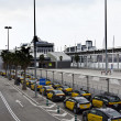 Stock Photo: Taxis in Barcelonport termina