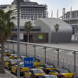 Taxis in Barcelonport termina — Stock Photo #8553353
