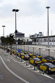 Taxis in Barcelona port termina — Stock Photo