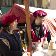 Medieval Fair, nobles in market — Stock Photo #9273598