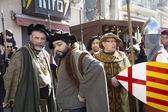Medieval Fair, nobles and soldiers — Stock Photo