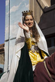 średniowieczny jarmark, królowa — Zdjęcie stockowe