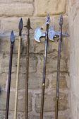 Gamla medeltida vapen — Stockfoto