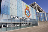 Vue d'ensemble du rcd espanyol stade bouclier ticket offices — Photo