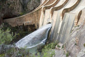 A dam opens its gates — Stock Photo