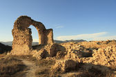 The ruins of a church, arch siglo XII — Foto Stock