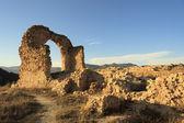 The ruins of a church, arch siglo XII — Zdjęcie stockowe