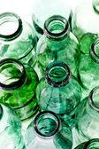 Old green glass bottles — Stock Photo