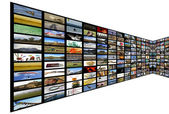 Media Room in perspective — Stock Photo