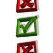 Checkmark in the box, 3D — Stock Photo