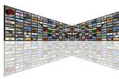 Media Room and Reflection — Stockfoto
