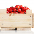 Ripe briar in wooden box isolated on white - Stock Photo
