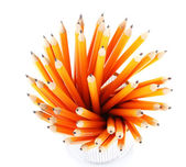 Lead pencils isolated on white — Stock Photo