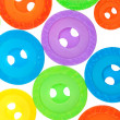 Bright sewing buttons isolated on white — Stock Photo