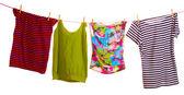 Kleider hängen isoliert — Stockfoto
